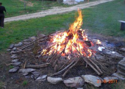 Lagerfeuer bei Urlaub am Bauernhof Grabenhofer