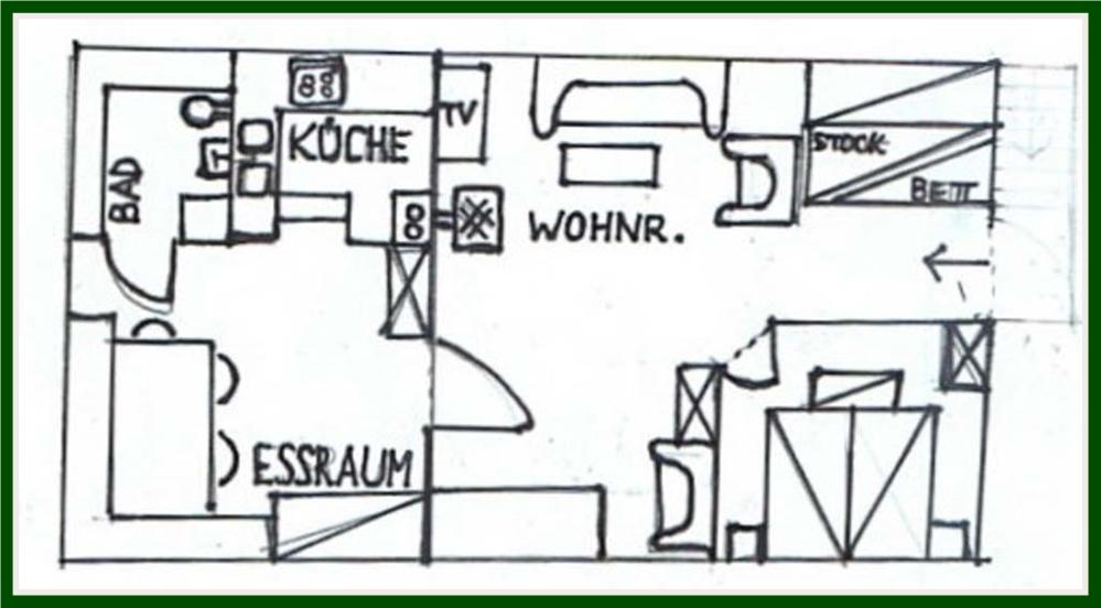 Kaminzauberhütte Skizze